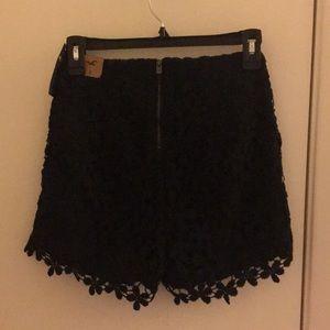 NWT Hollister Navy Fashion Shorts / Size 0